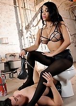 Hot Adriana having dirty fun with her worshipper