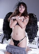 Smoking hot Nikki posing as an angel